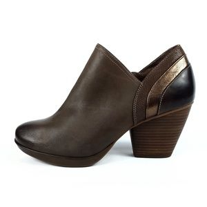 Dansko Marcia Brown Leather Ankle Booties EUR 41
